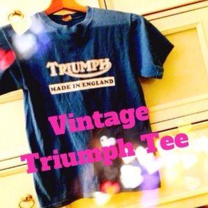 Tops - Vintage Triumph motorcycle T Shirt Medium
